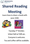 Shared Reading Parent Worskhop