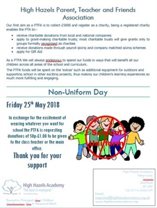 Non Uniform Day 25th May 2018